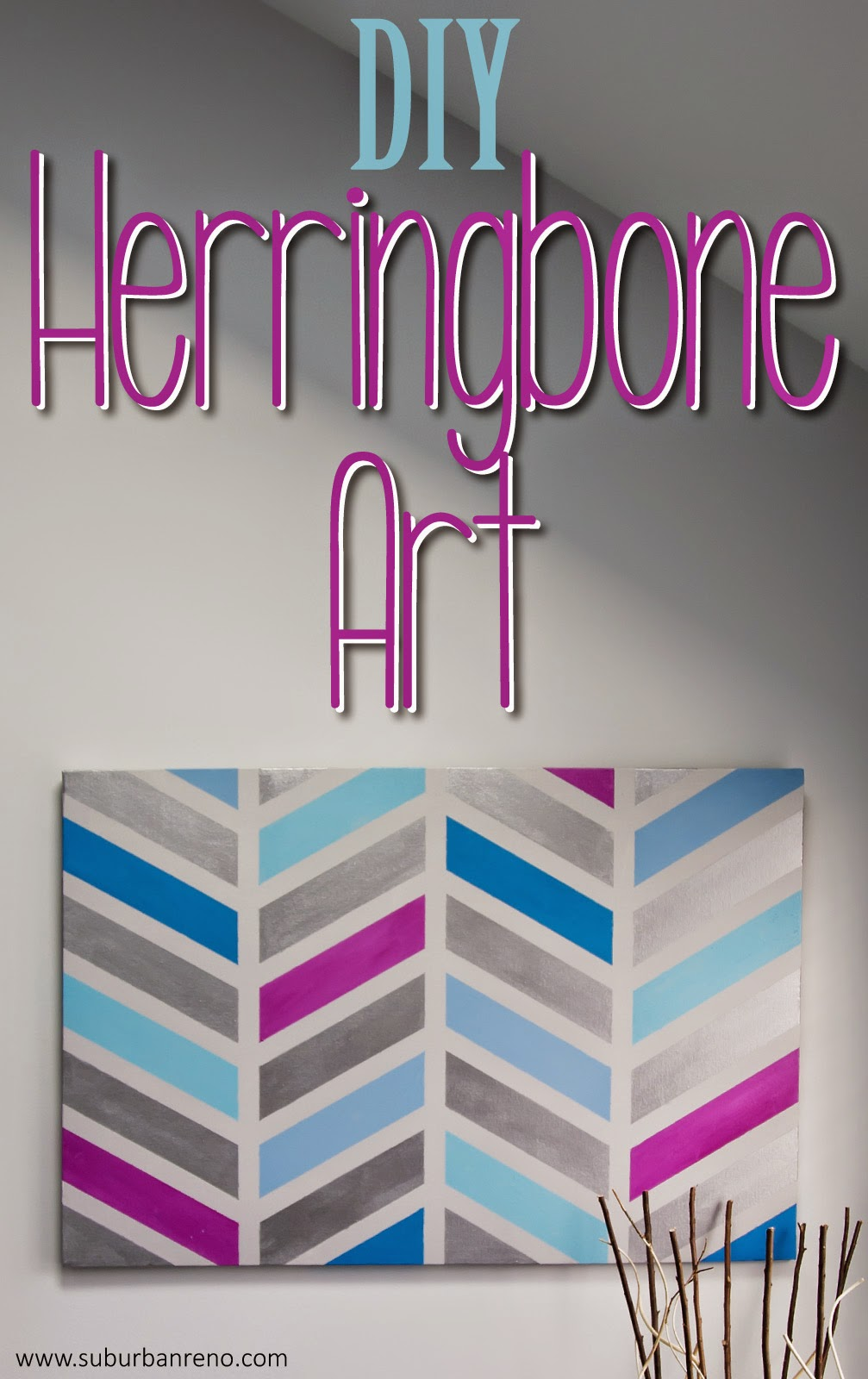 DIY Herringbone Art
