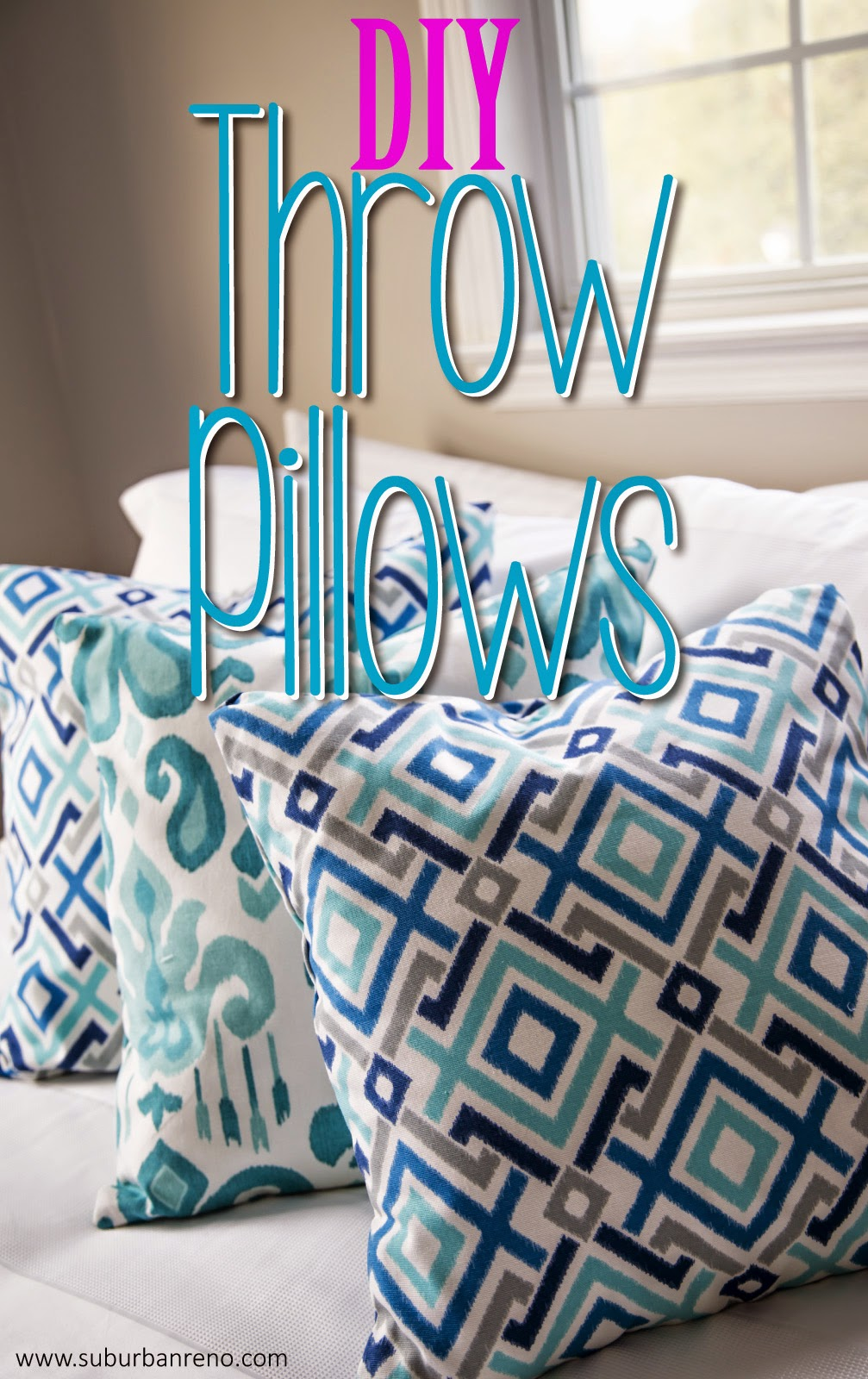 Diy Throw Pillows No Sew: DIY Throw Pillows (no sewing necessary!)   The Glamorous Gal,