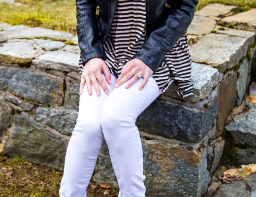 Striped Tank & Moto Jacket