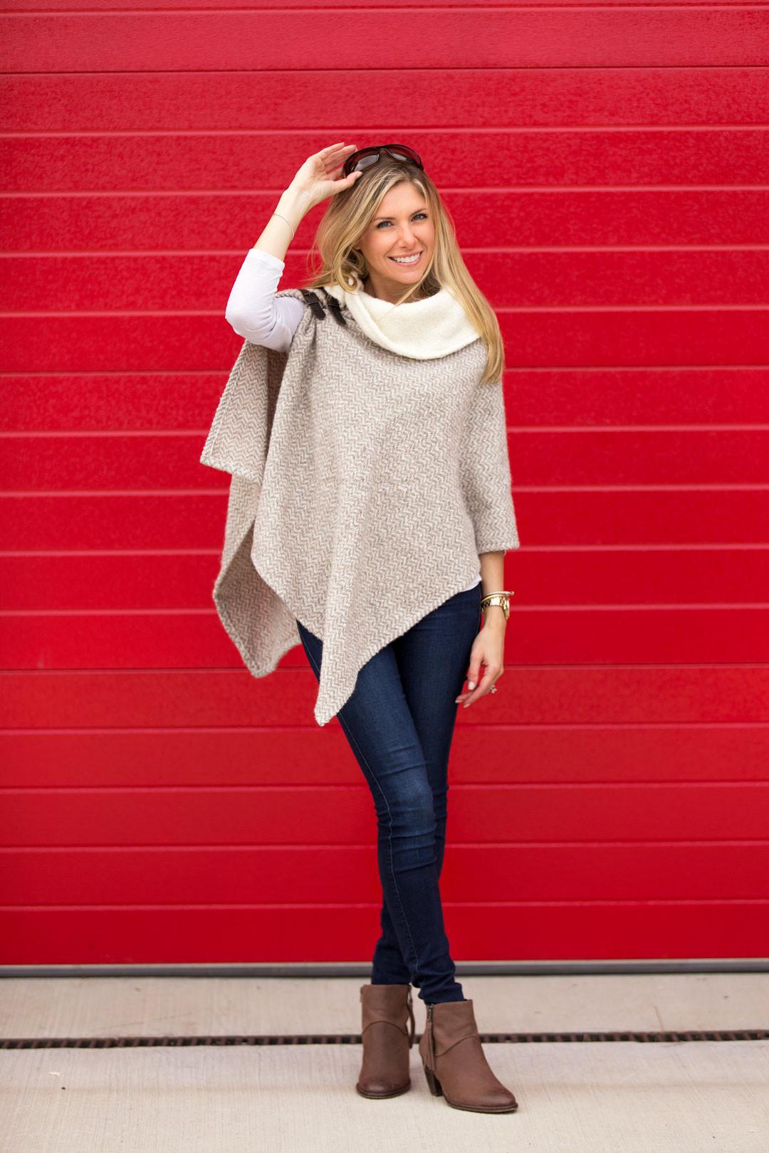 tan wool fall cape