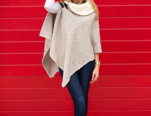 tan wool fall cape