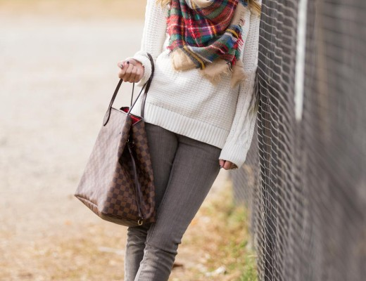scarf and sweater outfit