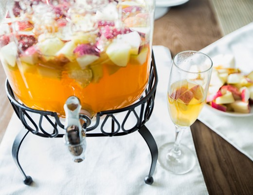 Delicious holiday sangria drink