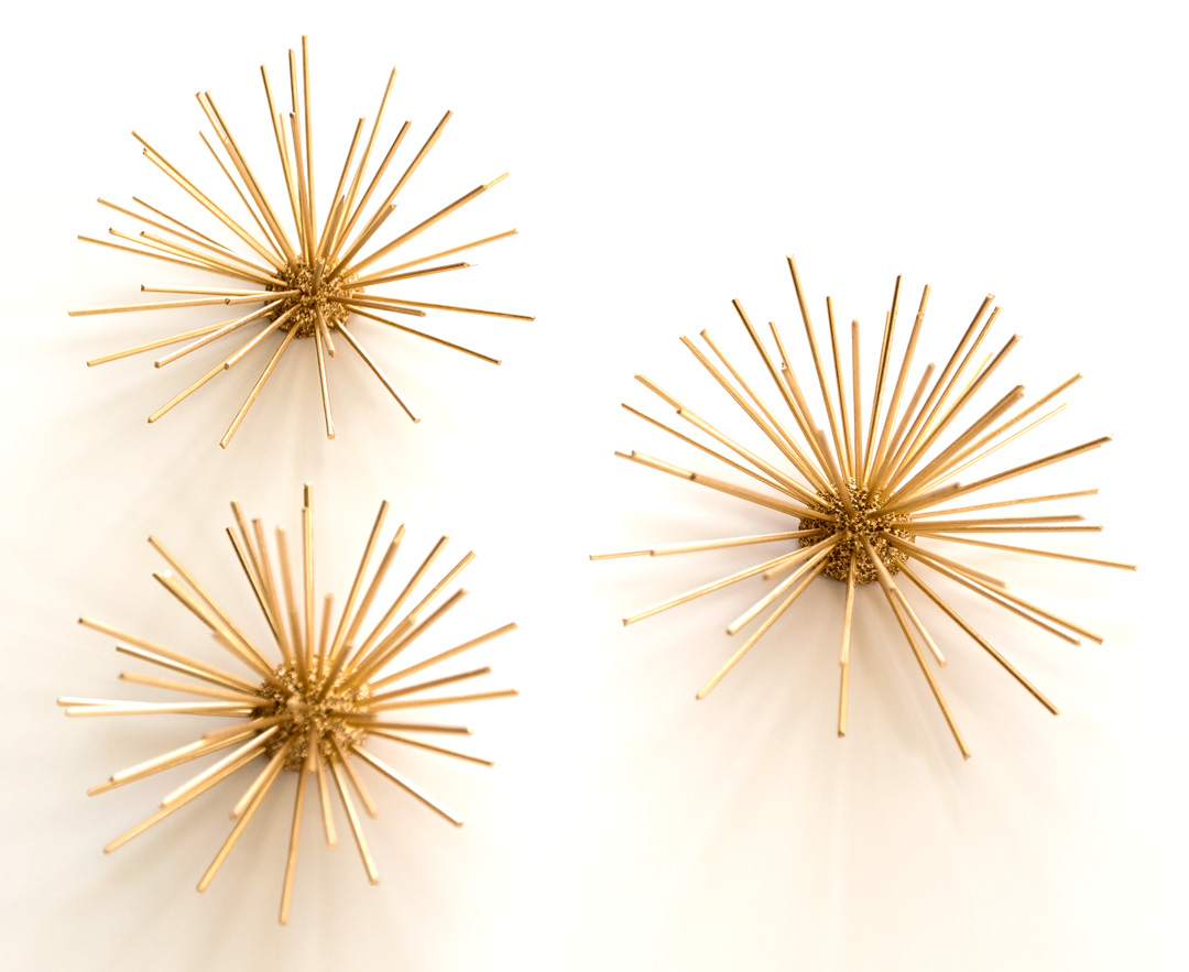 Gold Urchin Decor