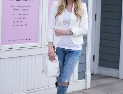 neutral white outfits and ripped jeans