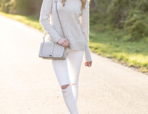 rebecca minkoff bag and j.crew cashmere sweater
