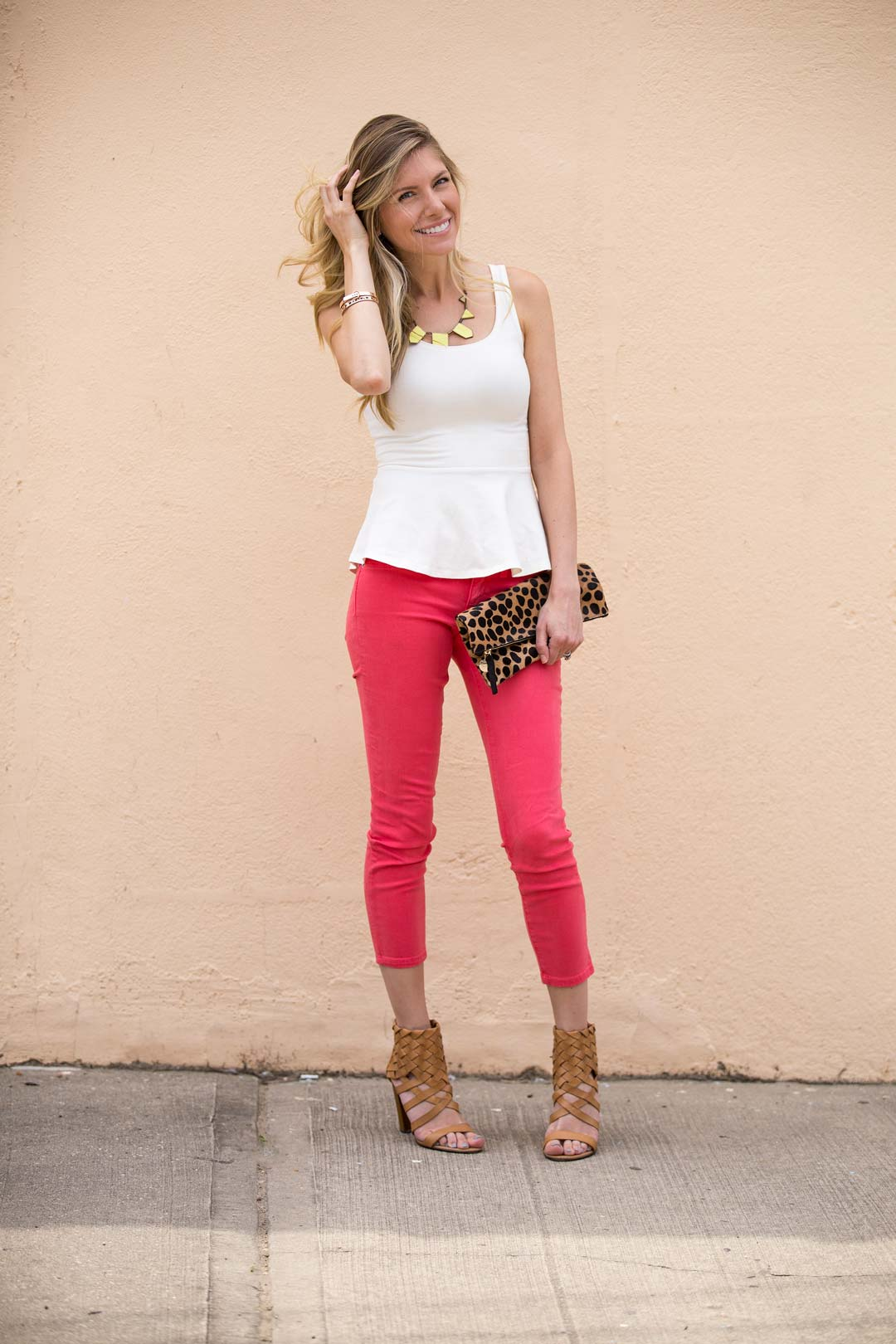 bright jeans leopard accents