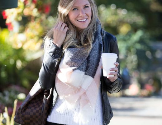 black, gray and blush outfit for fall