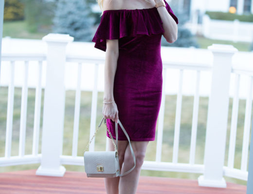 Burgundry Ruffle Dress from Shein under $20