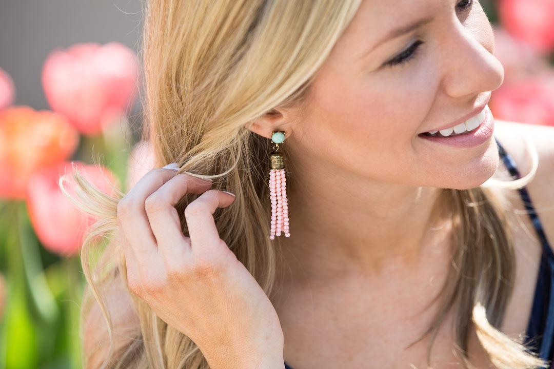 Sagarfix by Bauble Bar beaded tassle earrings under $15