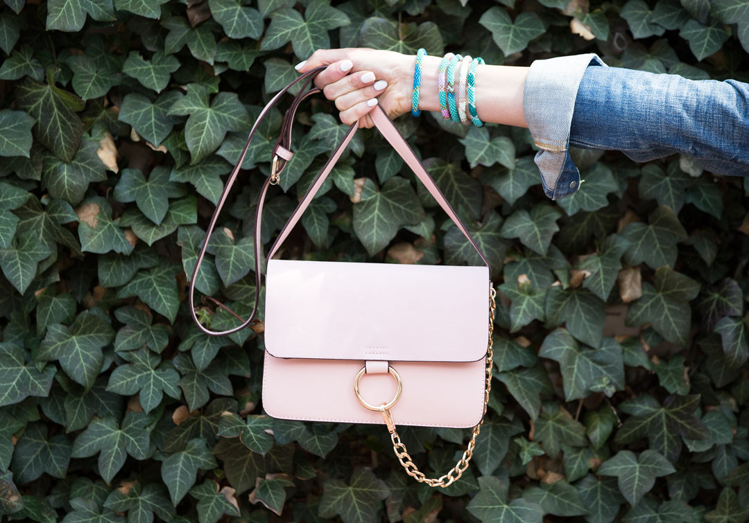 'ANJA' SUEDE LEATHER CROSS BODY BAG under $70