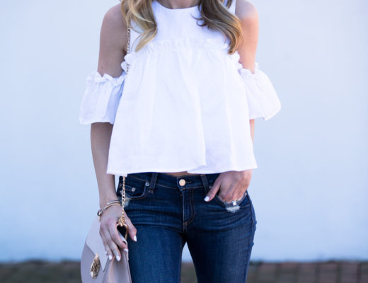 Linen Cold Shoulder Top by J.O.A.