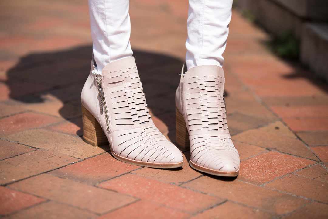 perfect spring blush booties