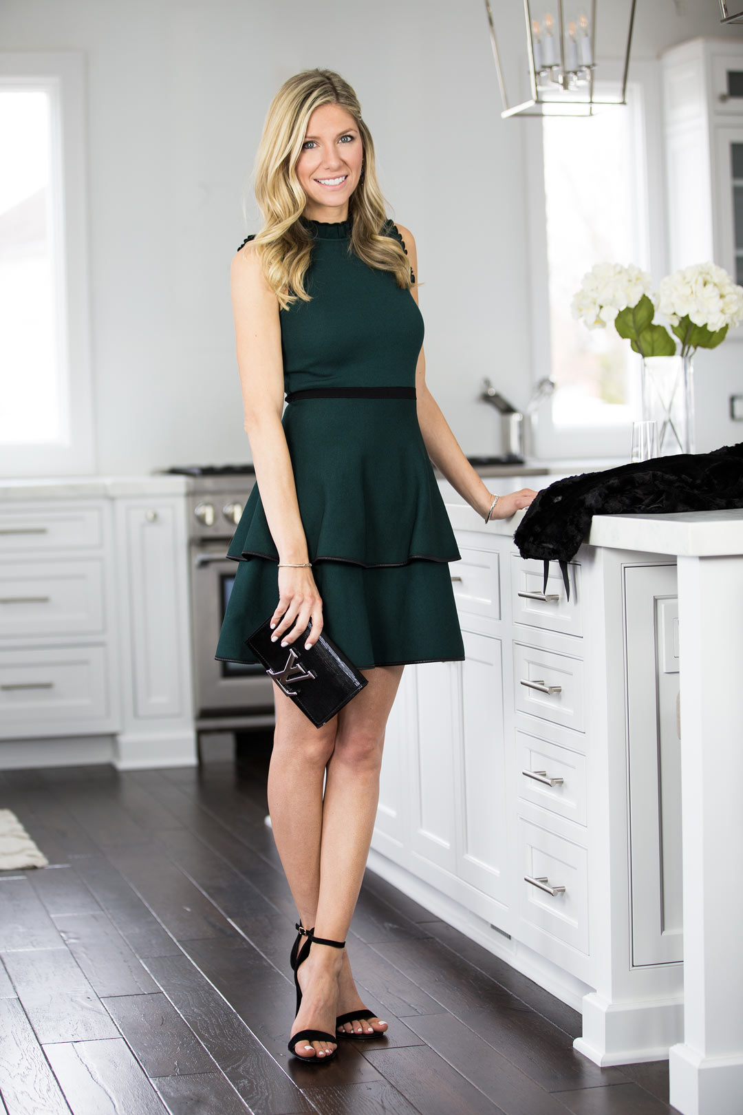 Rent the Runway Green Ryker dress by Parker