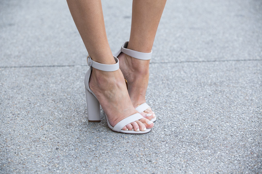 grey chunky strap heels under $30