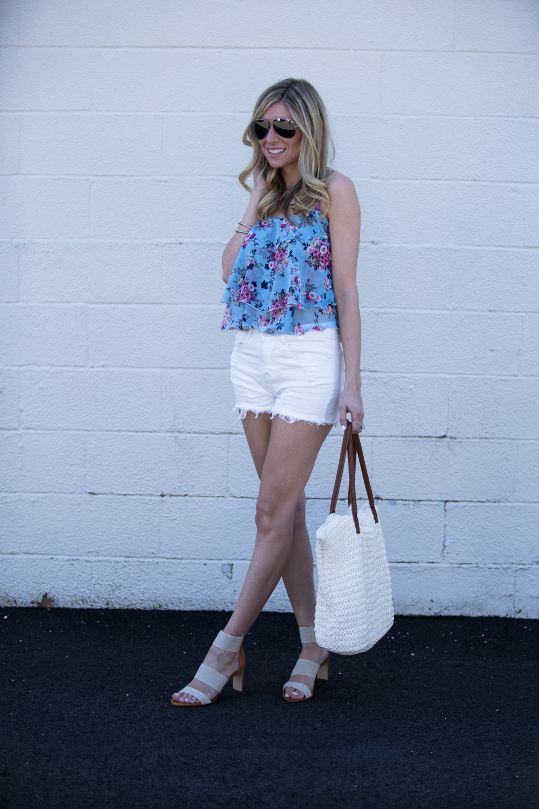 Shein white shorts under $15