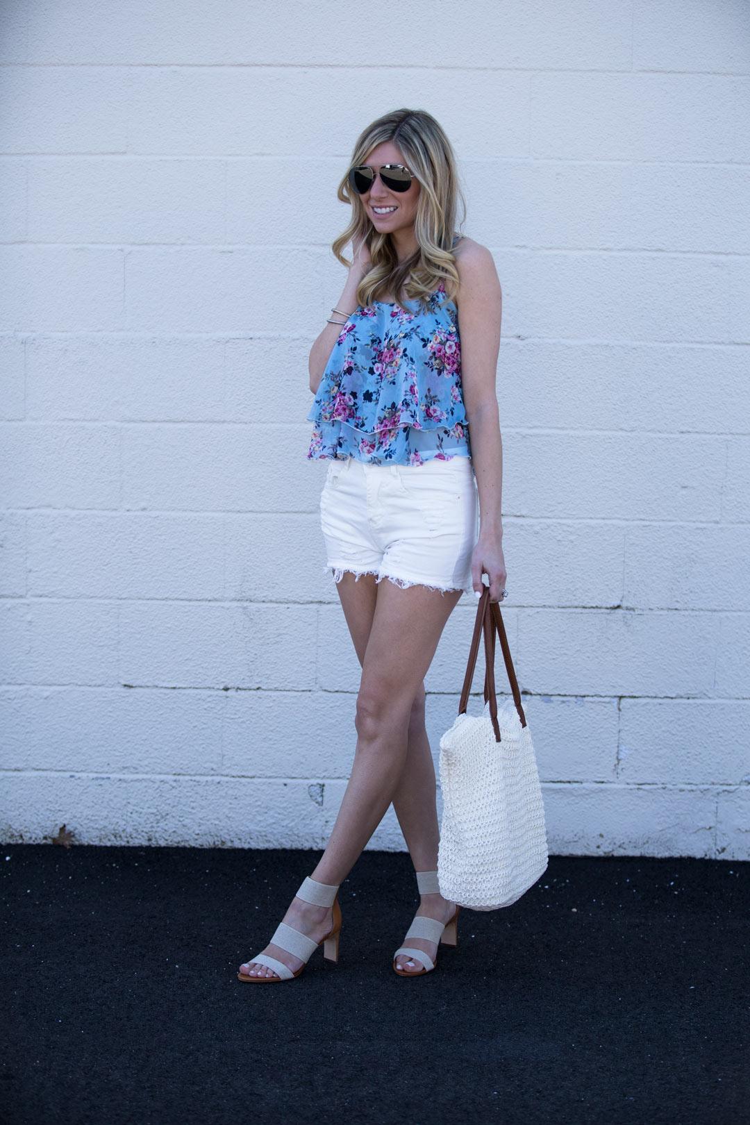 Shein white shorts under $15