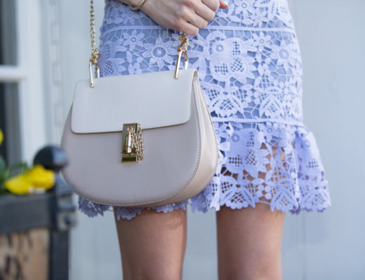 'TYRA' LILAC LACE SLEEVELESS SHIFT DRESS