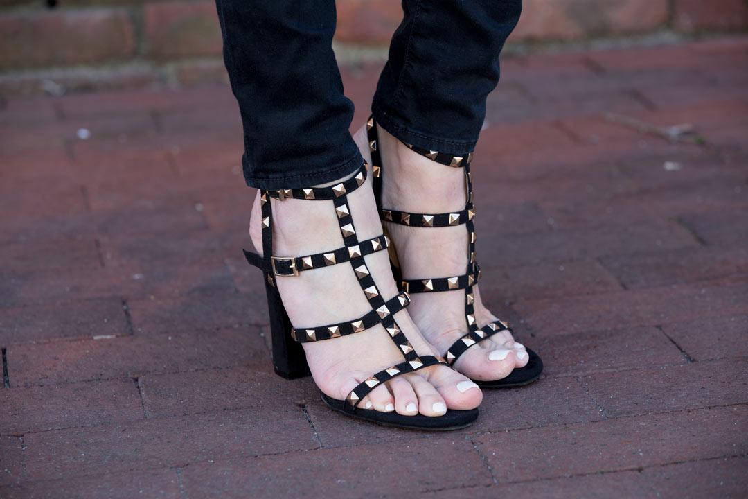 rockstud sandal dupes