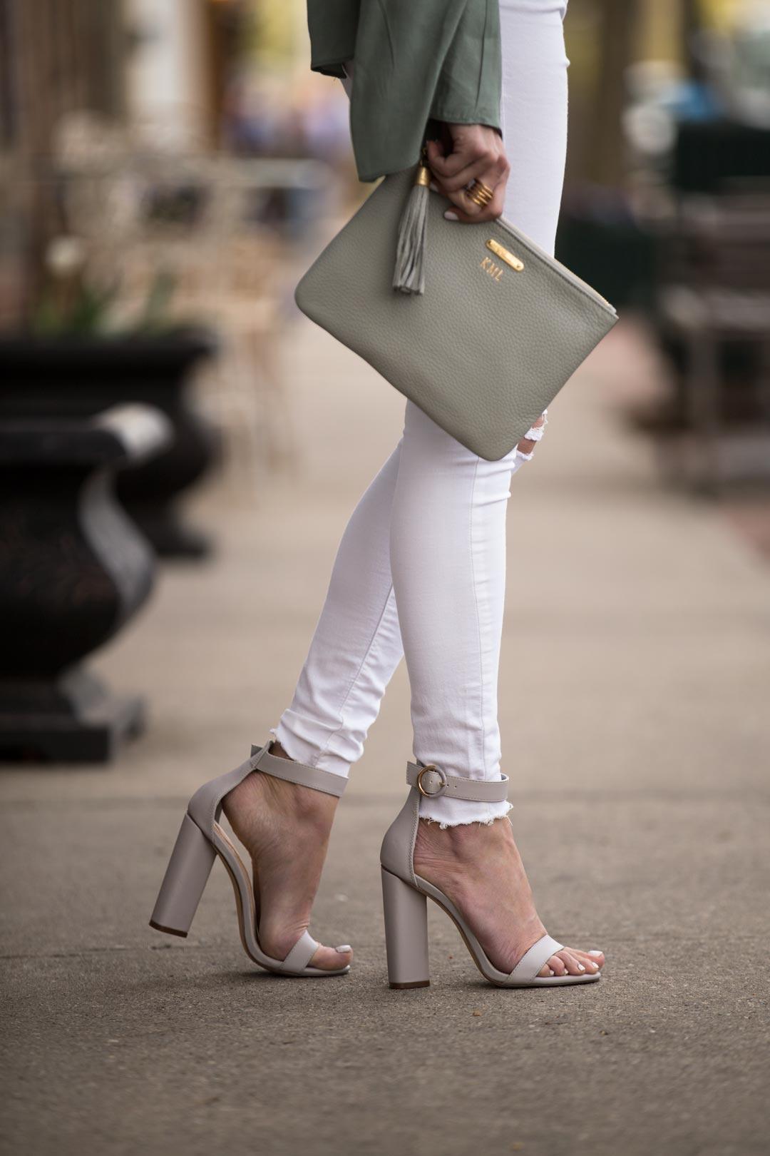 gigi new york uber clutch and go jane gray strappy sandals