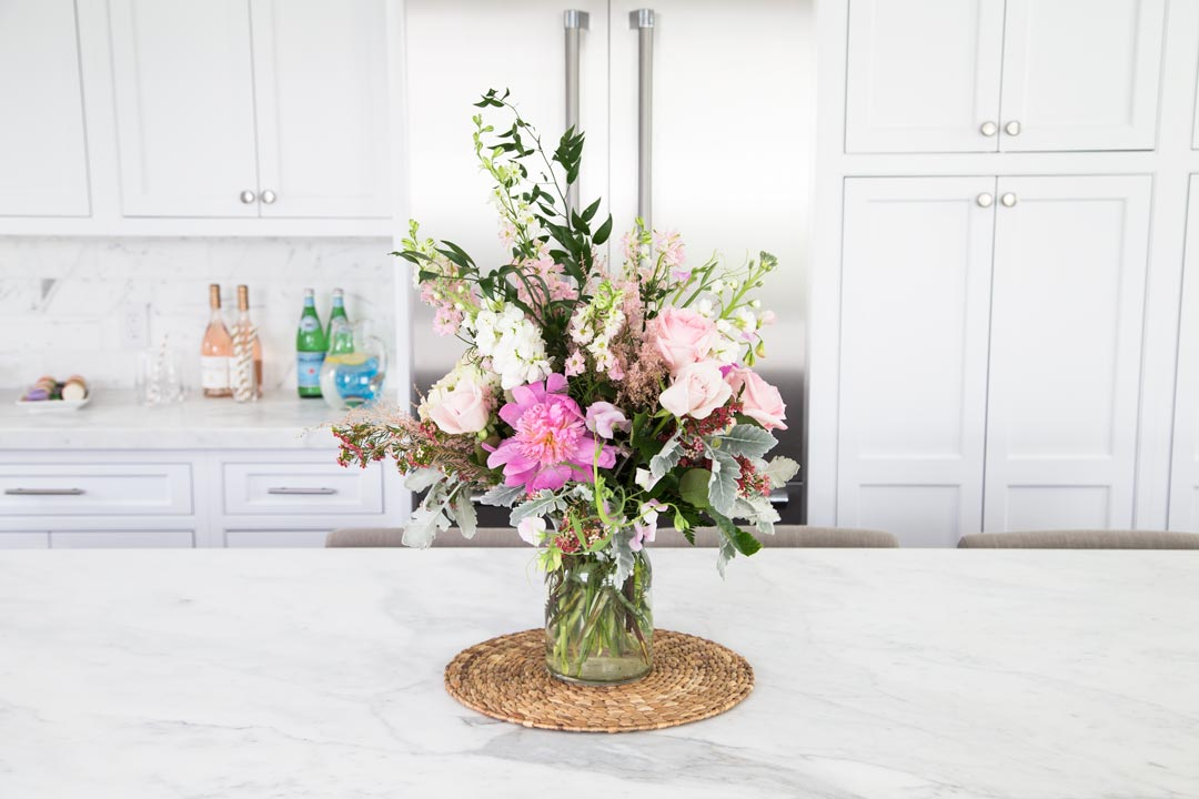 kitchen flower vase