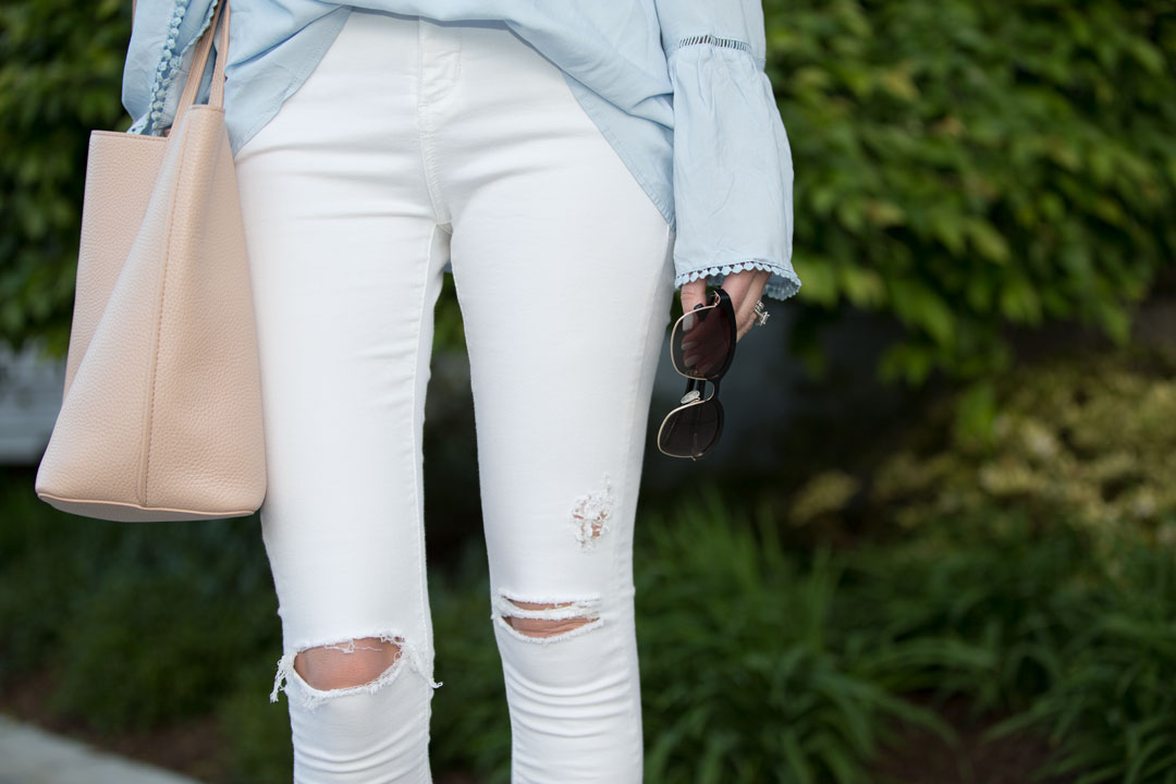 white ripped topshop jeans under $100