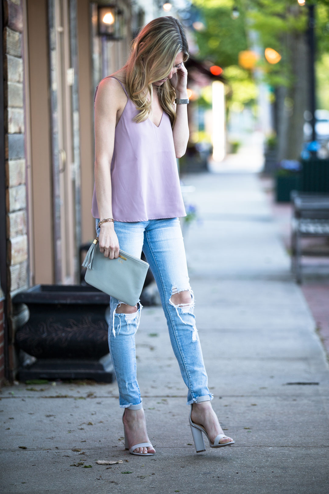ripped knee skinny jeans under $60
