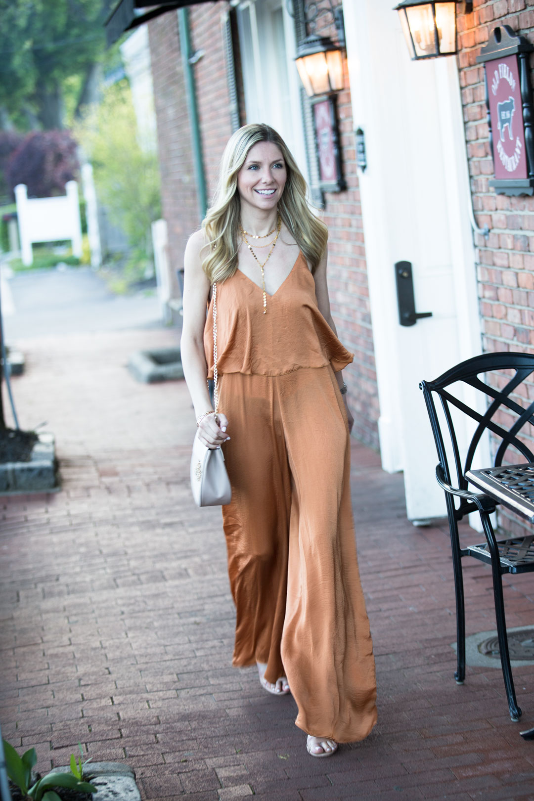 Another Level Tiered Wide Leg Jumpsuit under $50