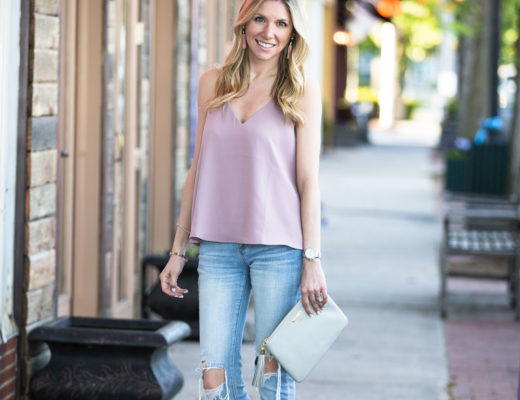 EDGE OF NIGHT MAUVE CAMI TOP under $25