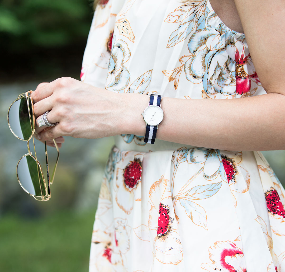 Daniel Wellington fabric blue and white watch
