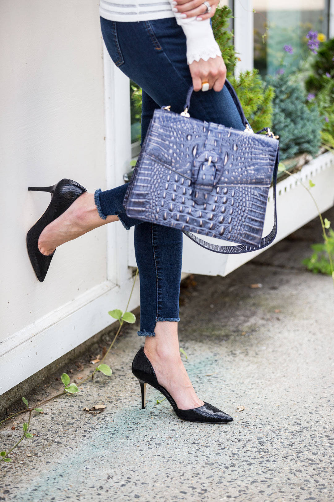 the most comfortable black stilettos for a party or work