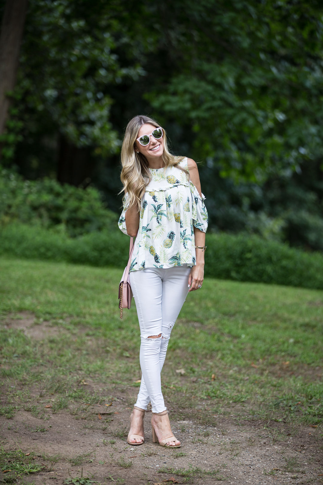 cold shoulder summer top under $40
