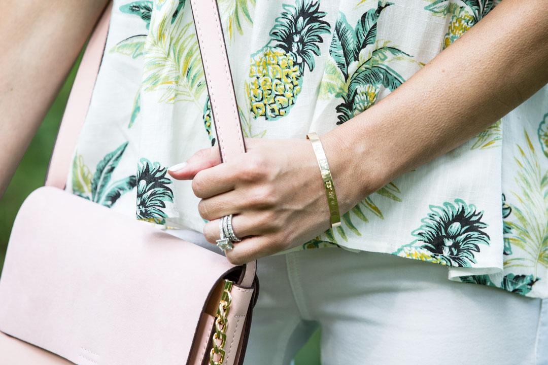 latitude and longitude customized bracelet