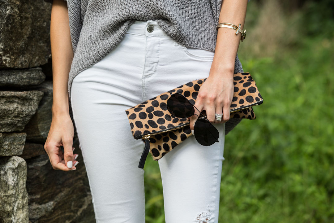 the perfect fall sunglass and clutch accessories