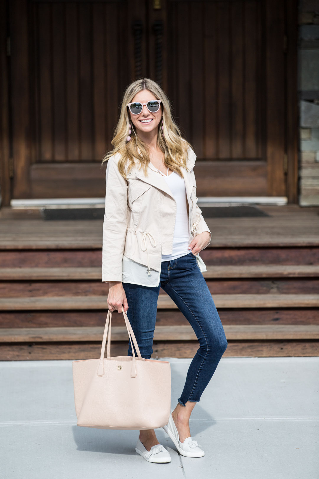 the perfect fall outfit and comfortable bow flats