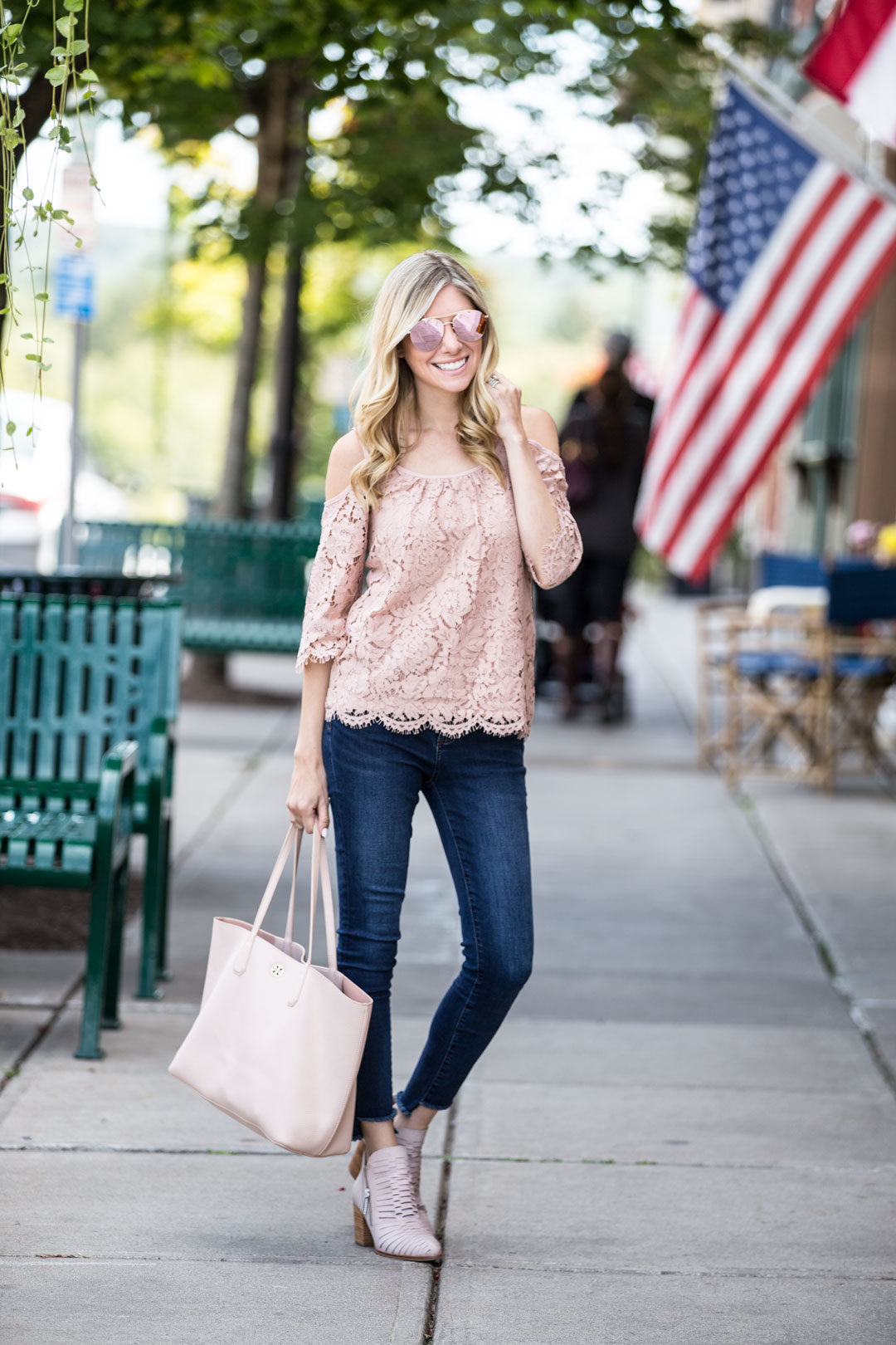 Casual fall transition outfit
