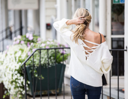open back fall sweater fashion