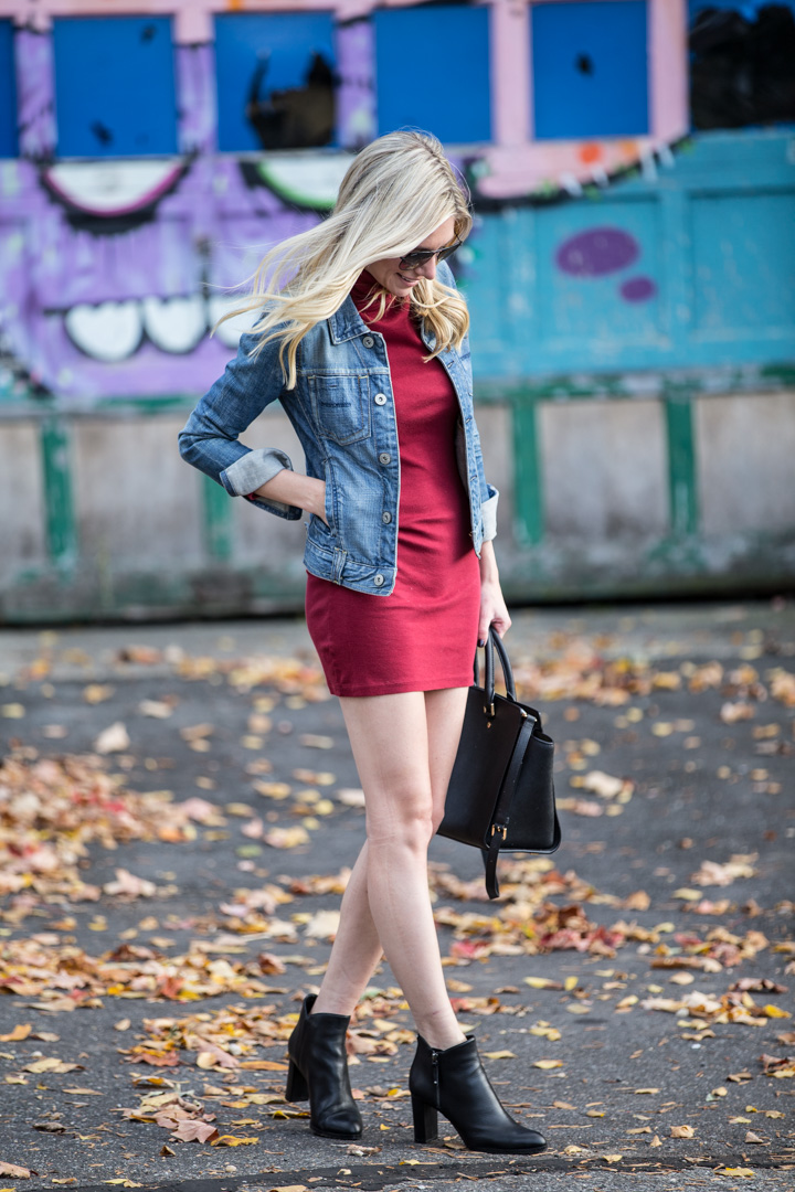 Burgundy Fall Dress