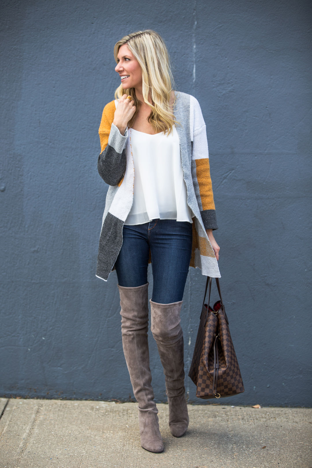 Colorblock Cardigan under $30
