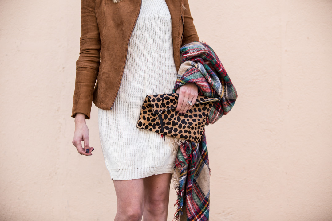 Chicwish Fall Faux Suede Jacket in Camel