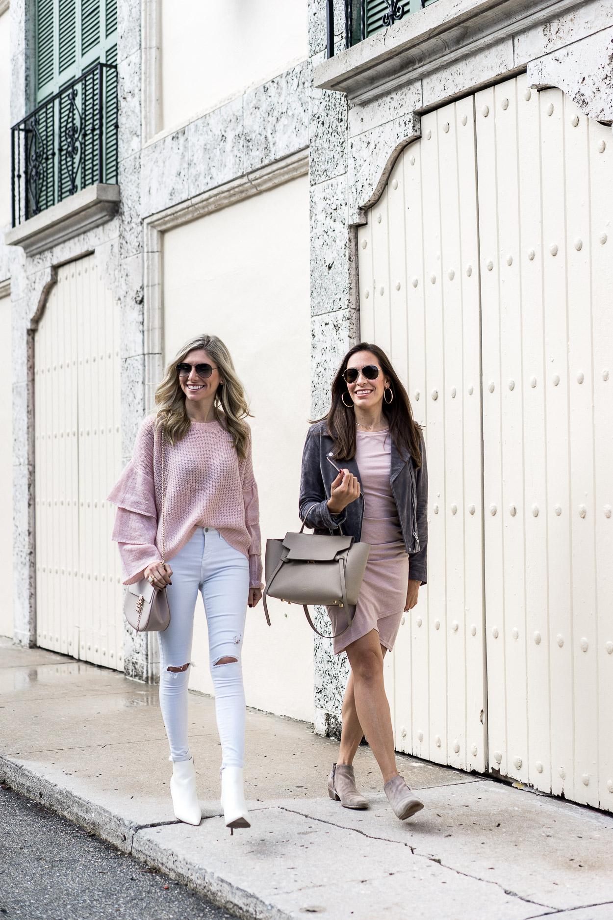 blush white and gray details for fall
