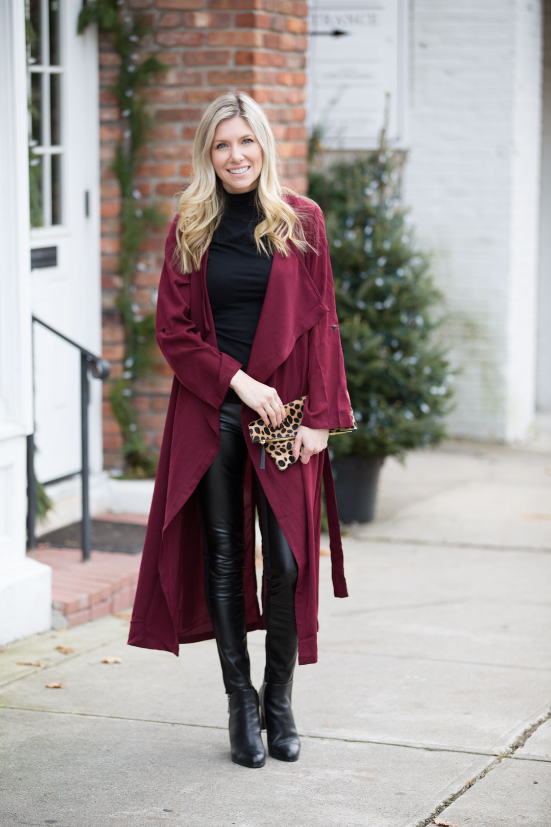 sophisticated street style outfit for winter