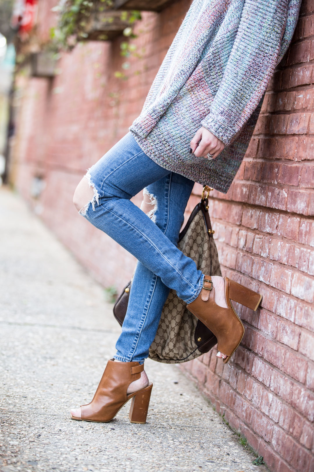 Multi Color Oversized Cardigan