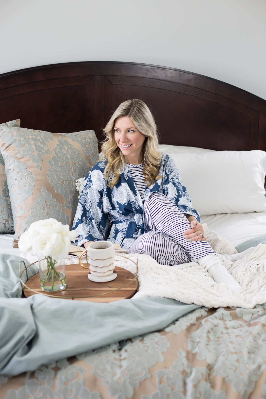 Garnett Hill Natural Fiber Pajamas and Robe