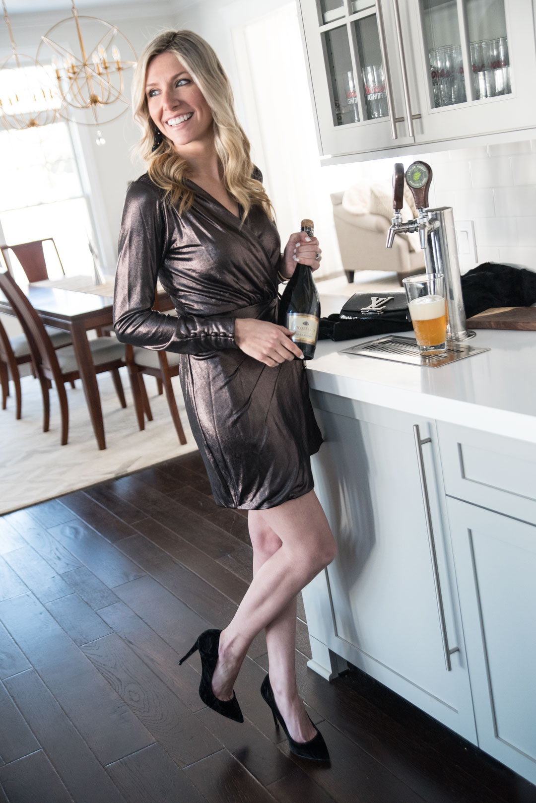 the perfect winter wrap dress