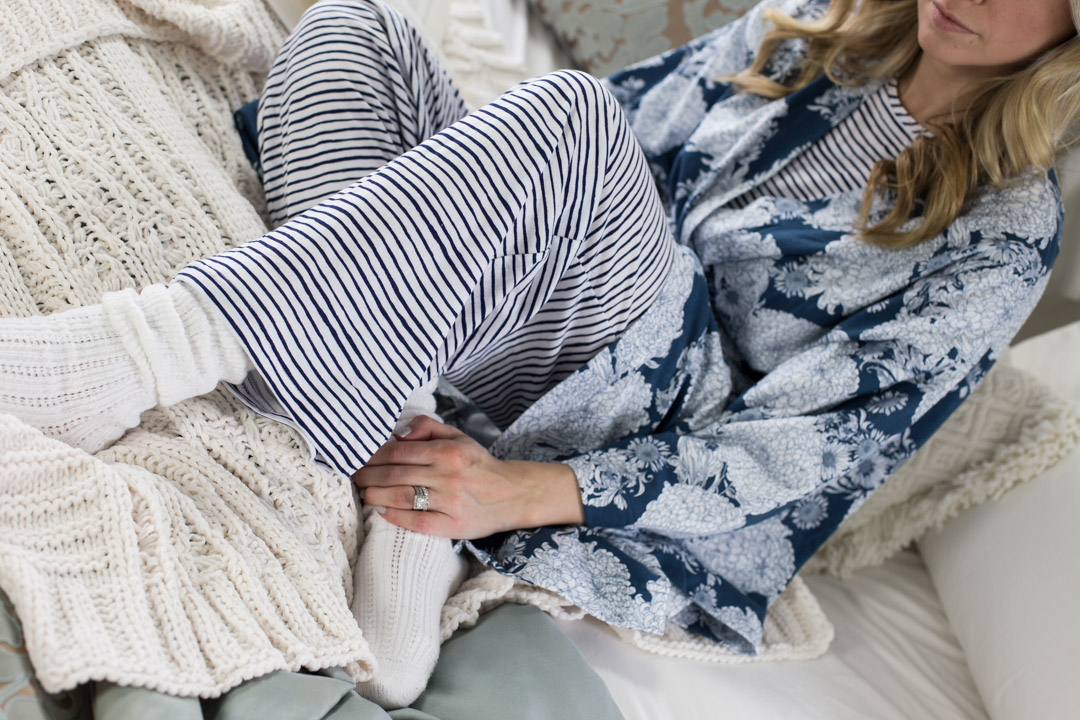 Garnett Hill Natural Fiber Pajamas and Robe