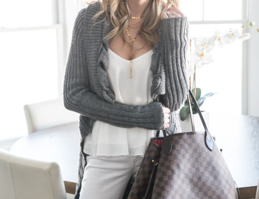 winter white casual and cozy outfit