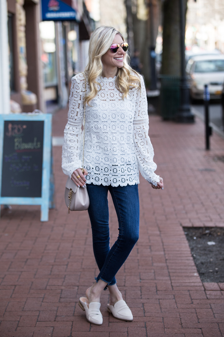 Shein Lace Overlay Top under $25