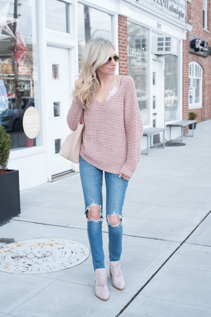 Red Dress Boutique Blush Sweater