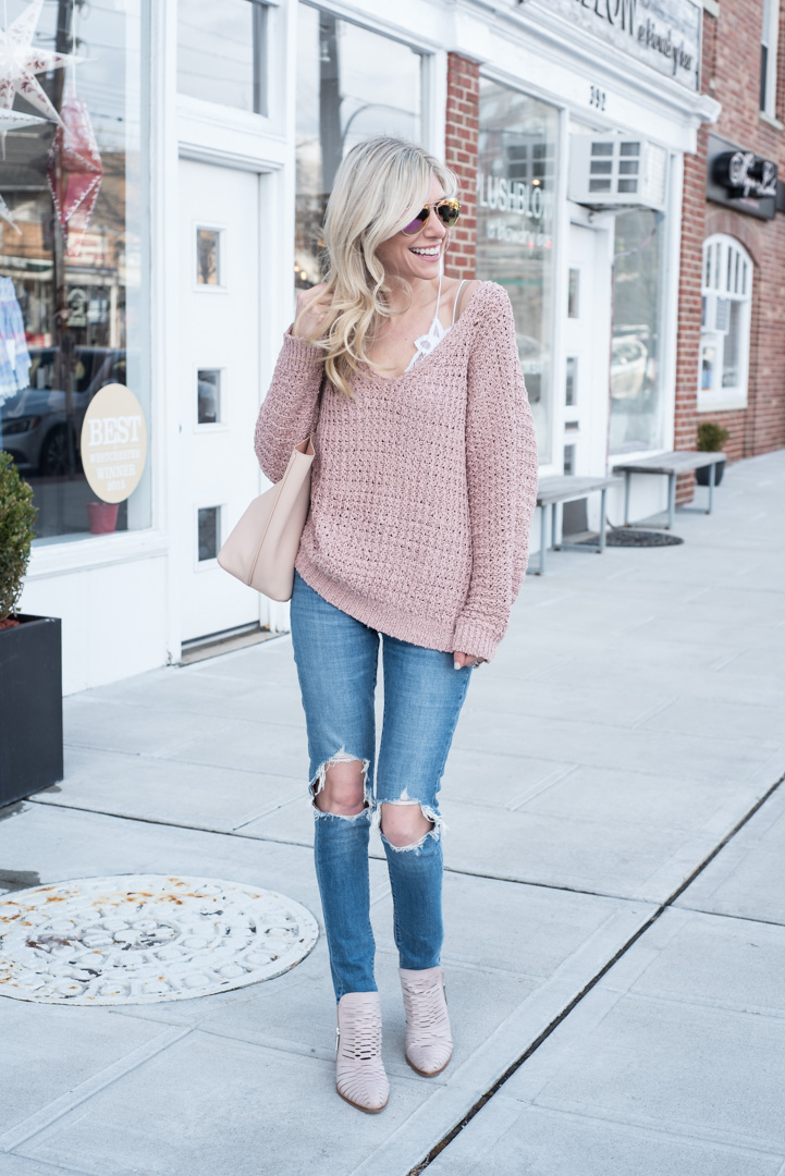fcdba64c06 Oversized Blush Sweater and Bralette